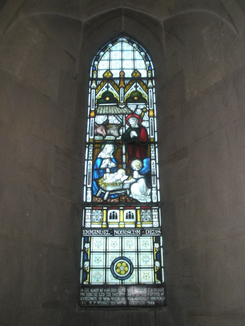Stained glass window on the north wall at St John the Baptist, Greatham (3)