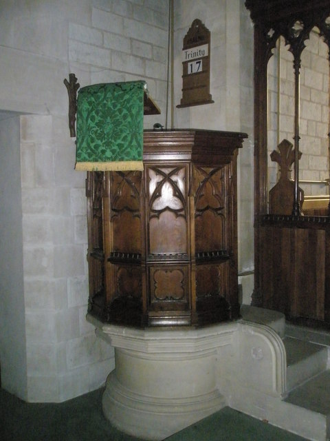 The pulpit at St John the Baptist, Greatham