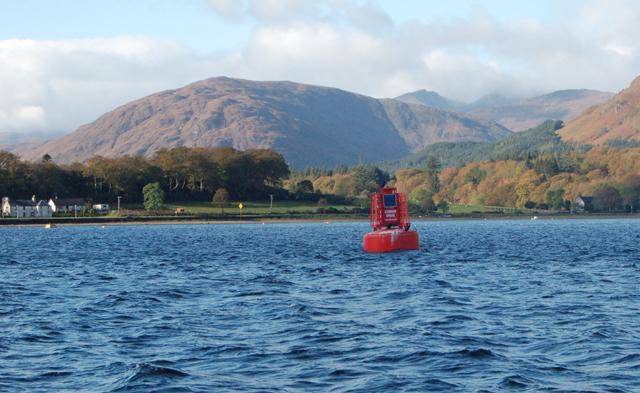 Corran Shoal red buoy, Loch Linnhe