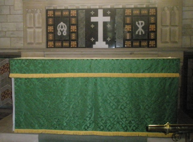 The altar at St John the Baptist, Greatham
