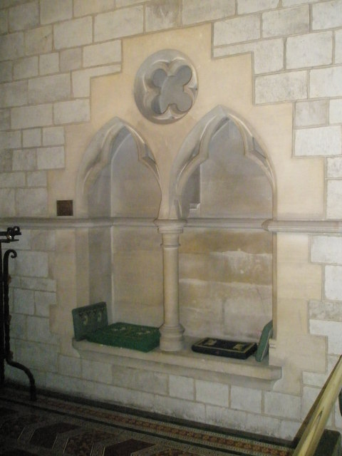 Alcove by the altar at St John the Baptist, Greatham