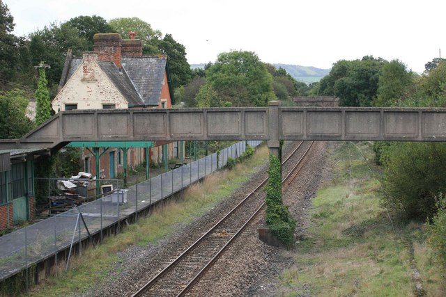 Old Station buildings and platform