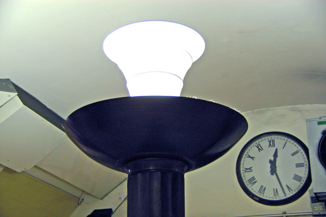 Lamp and clock, Southgate Station, London N14