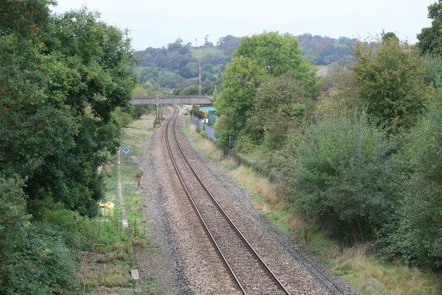 Seaton Junction from the roadbridge