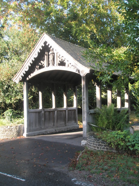The lych gate at St John the Baptist, Greatham