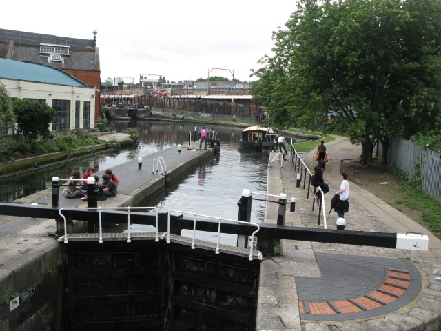 Lock on the Regent's Canal, west of Kentish Town Road, NW1