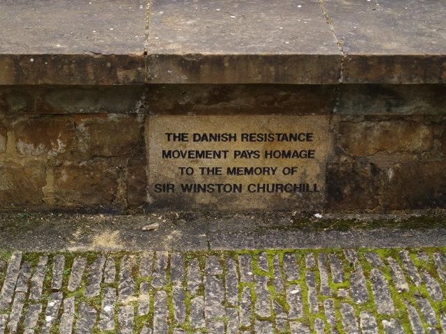 Memorial stone to Churchill