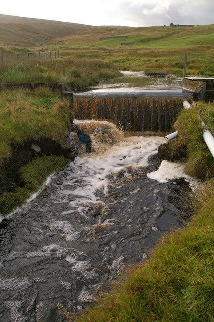 Dam on the Burn of Skaw