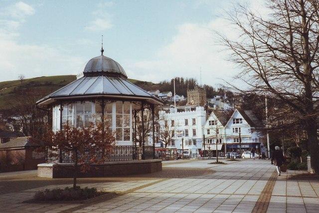 The bandstand at Dartmouth, Devon