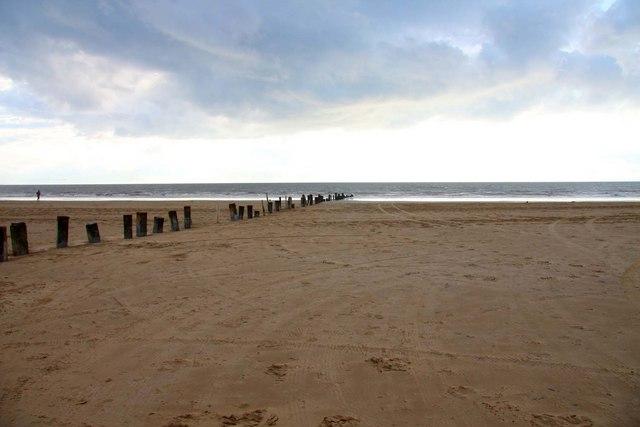 The beach on Berrow Flats