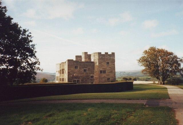 Castle Drogo as seen from the gardens, Devon