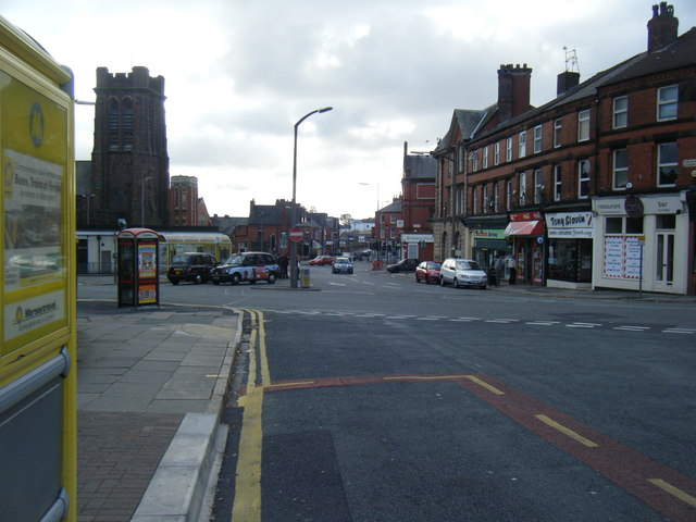 Heathfield Road junction with Church Road