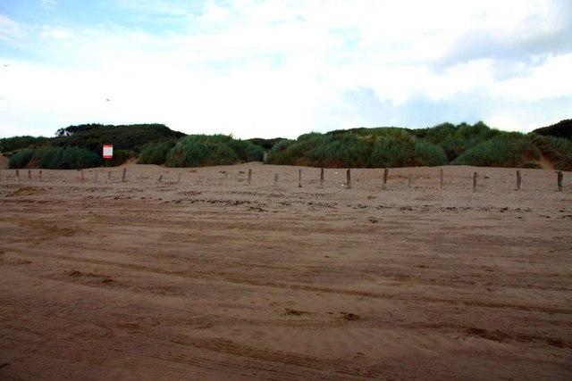 The dunes on Berrow Beach