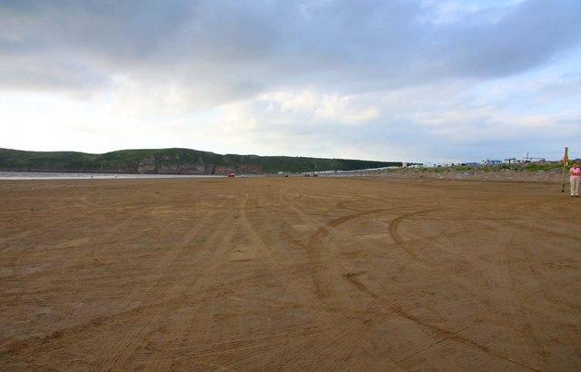 The beach by Brean Farm