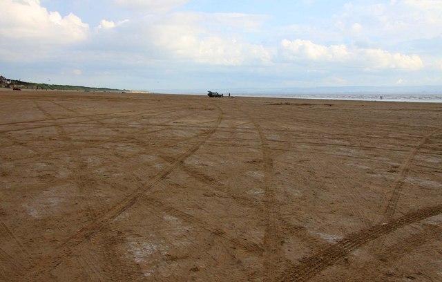 Brean Sands beach