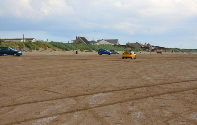 Cars on the beach at Brean Sands
