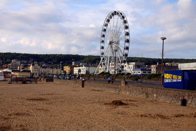 The seafront and big wheel at Weston