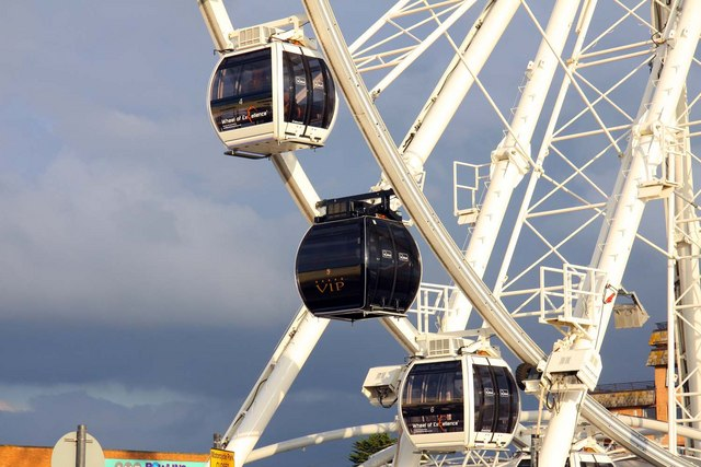 Observation cars on the Big Wheel at Weston-Super-Mare