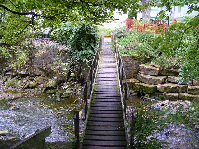 Private bridge across the River Nent