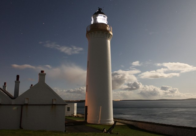 Cantick Head Lighthouse by night