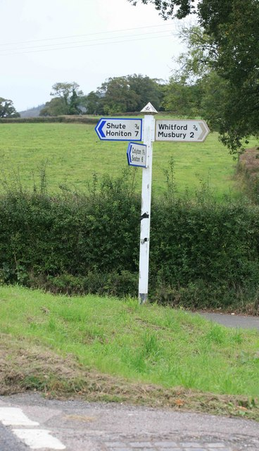Signpost nr Seaton Junction