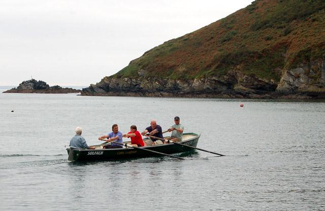 Gig (longboat) racing at Solva (1)