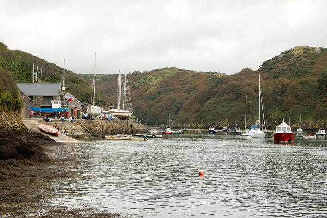 Solva harbour from the coastpath near Trinity Quay