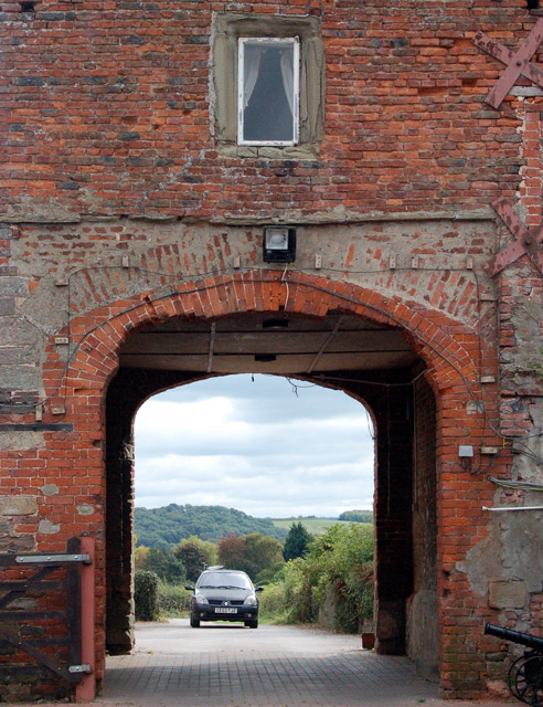 Courtyard arch at Castle Farm, Raglan