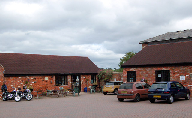 Courtyard at Castle Farm, Raglan