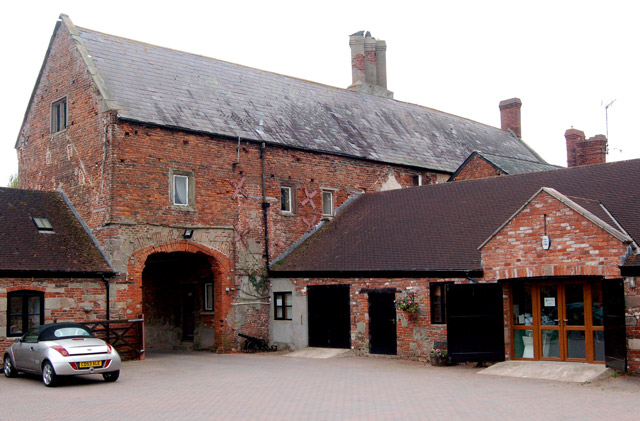 Courtyard and arch, Castle Farm, Raglan