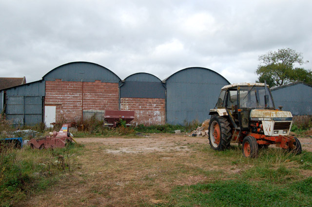 Sheds and implements at Castle Farm, Raglan