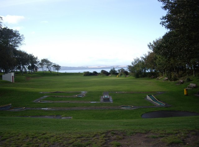 Crazy golf course, Nairn