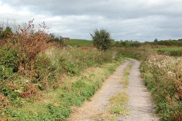 Track south of Castle Farm, Raglan
