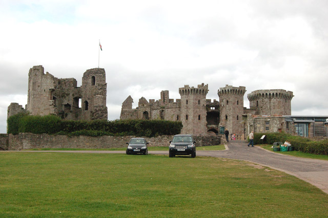 Raglan Castle from the south