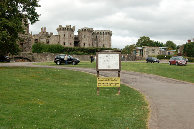 Entrance to Raglan Castle from the car park
