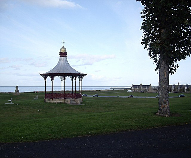 Monument and Bandstand on Nairn Links