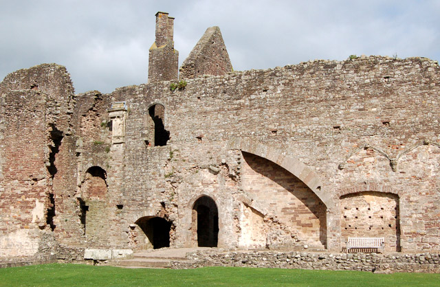 West wall of The Hall, Raglan Castle