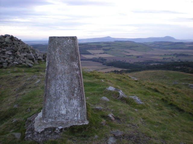 Normans law trig looking towards East and West Lomond hills