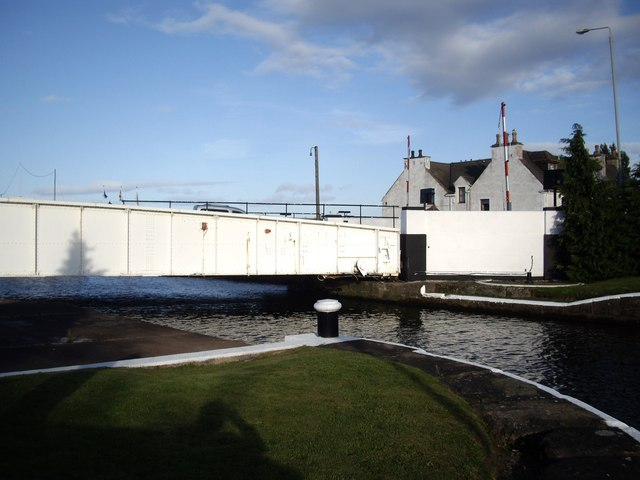 Swing bridge over the Caledonian Canal