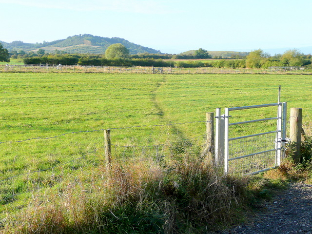 Footpath south-west from Little Beckford