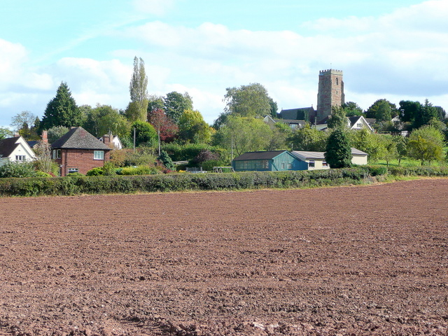 Ploughed field at Weston under Penyard
