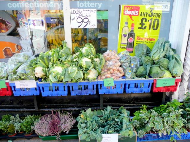 Local veg. at the Spar Shop, Ross-on-Wye