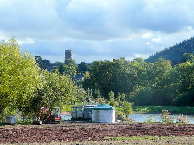 Irrigation facilities near Weston under Penyard