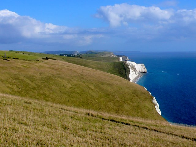 Blue Skies Over the White Cliffs of Dorset