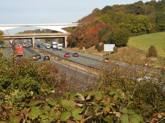 M1 looking north from the Trans Pennine Trail