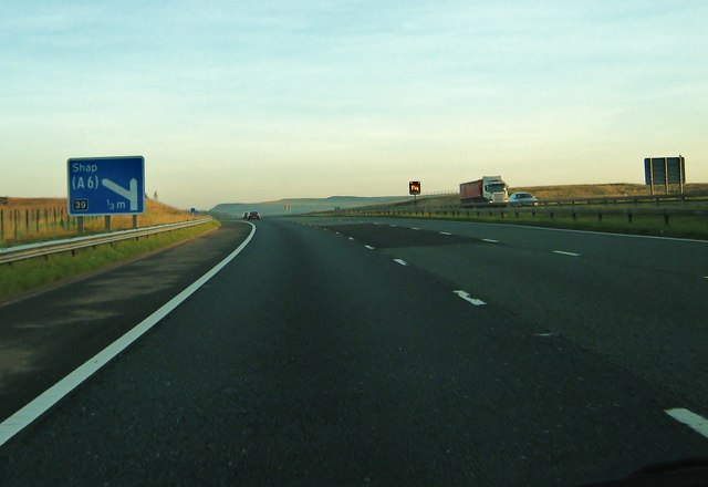 M6 motorway, northbound