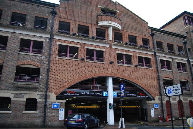 Multi-storey car park entrance, Royal Victoria Place