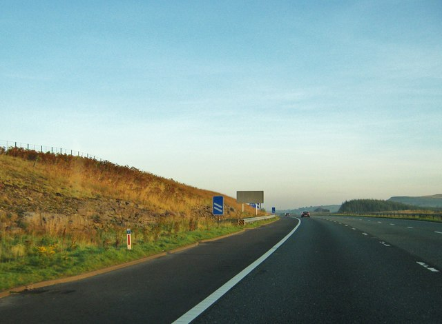 M6 motorway, approaching junction 39