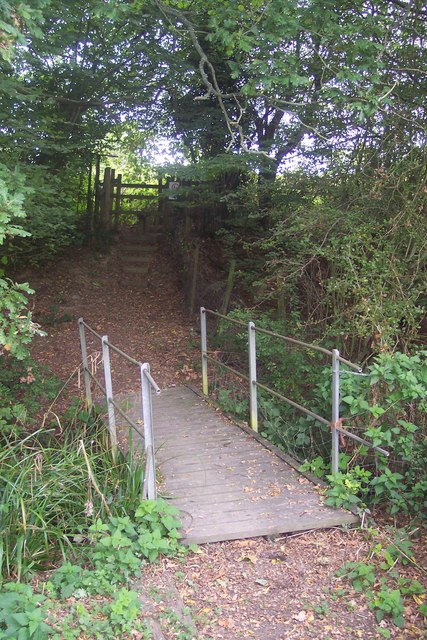 Footbridge and steps near London Beach Golf Course