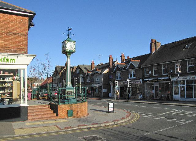 Clock tower on the High Street, Heathfield